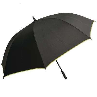 Black with Green Large Auto-Open Trim Umbrella