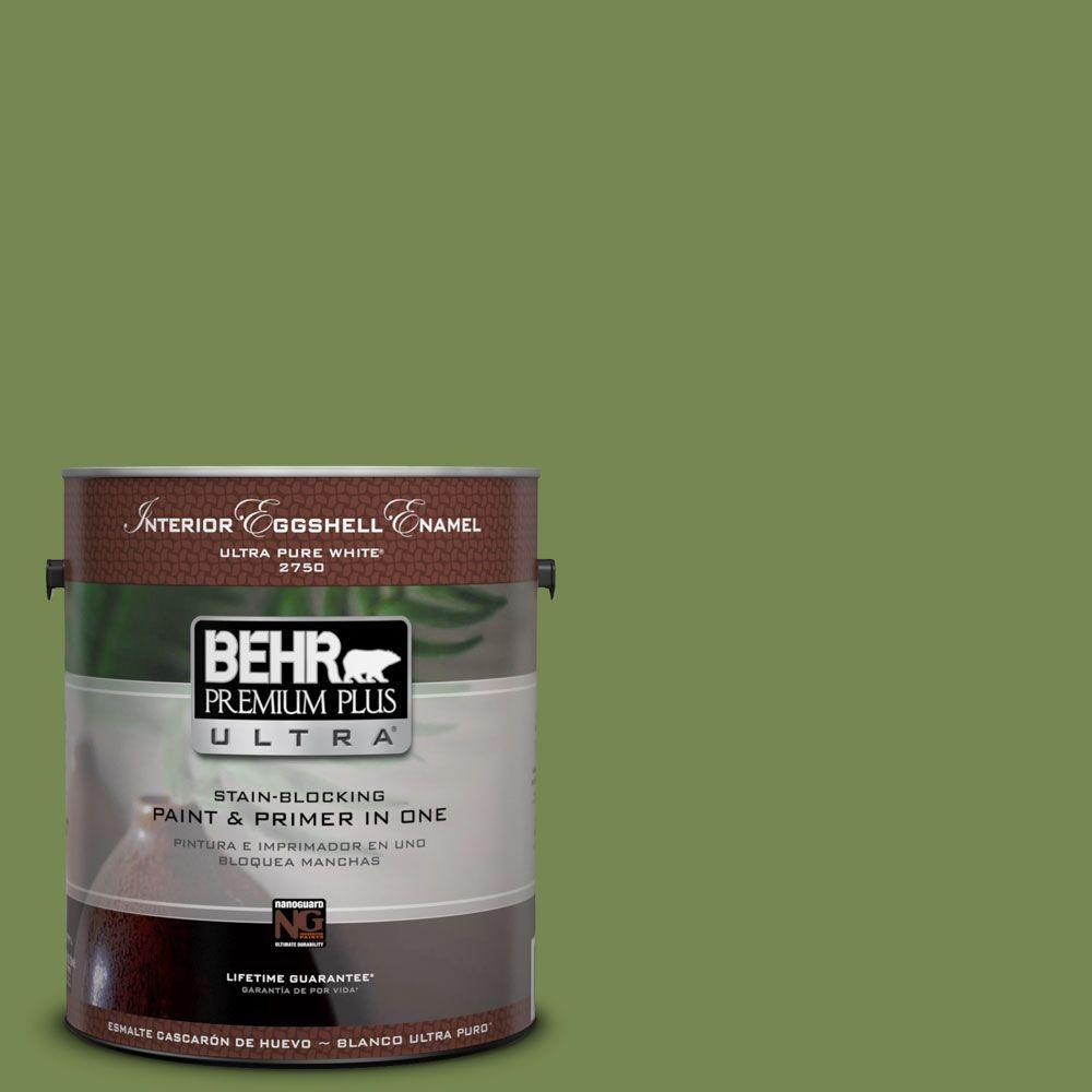 1-gal. #HDC-SM14-2 Green Suede Eggshell Enamel Interior Paint