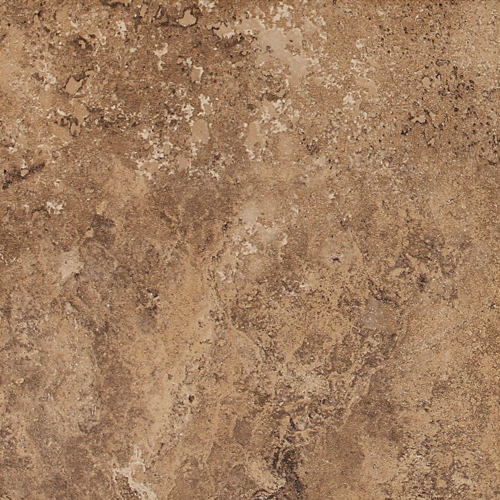 Daltile Palatina Olympus Brown 18 in. x 18 in. Glazed Porcelain Floor and Wall Tile (17.5 sq. ft. / case)