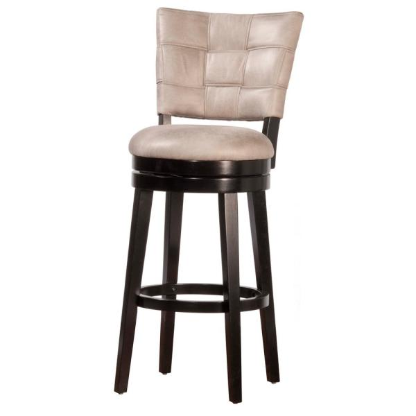 Hillsdale Furniture Kaede Swivel 26 in. Black Counter Stool 4355-828