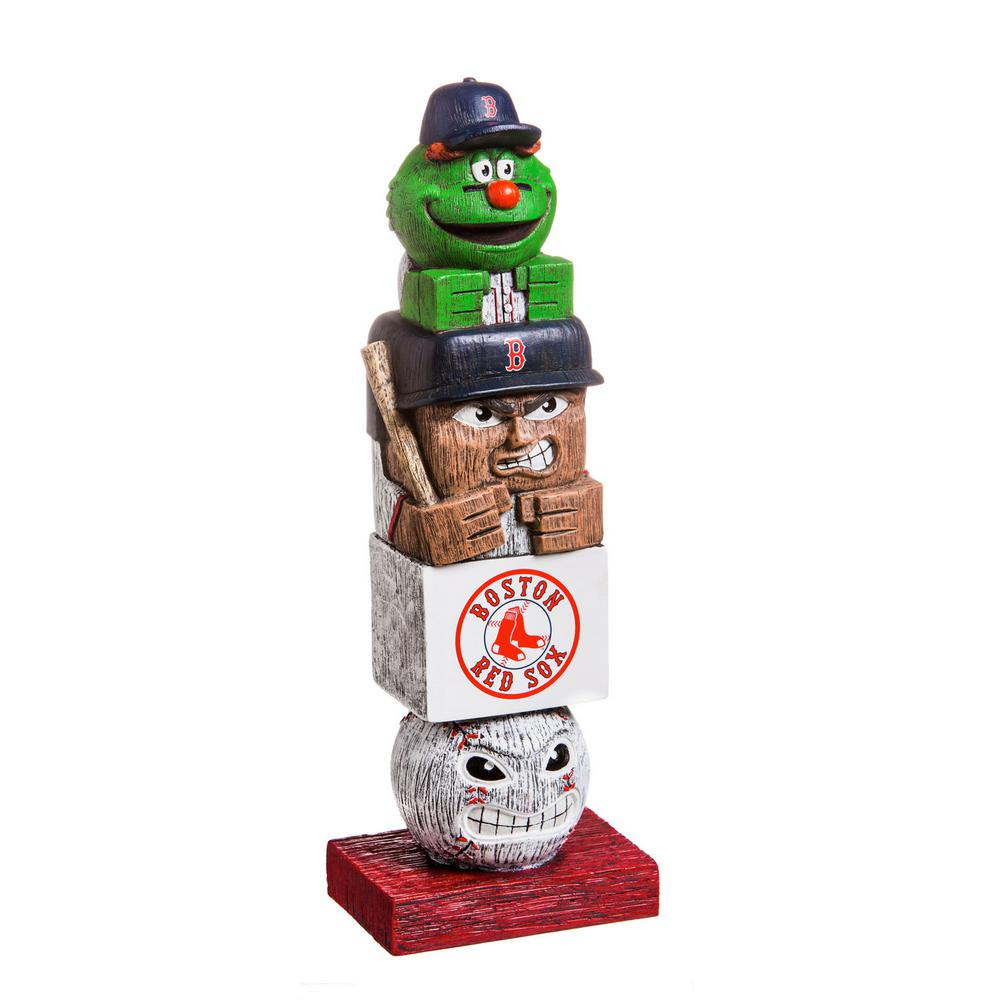 Boston Red Sox Tiki Totem Garden Statue