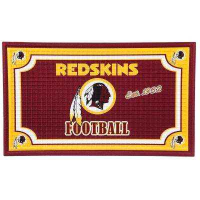 Washington Redskins 18 in. x 30 in. Embossed Welcome Mat
