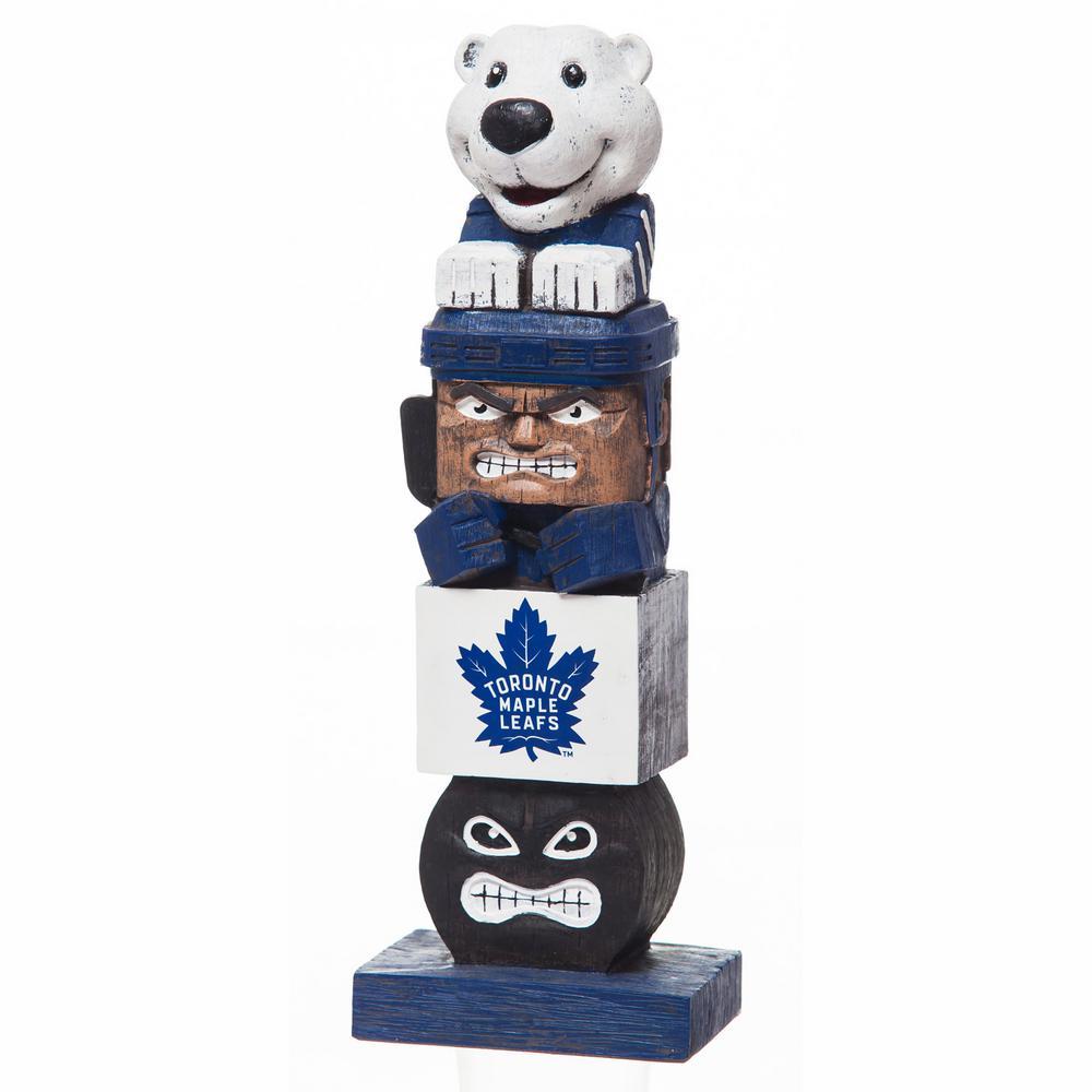 Toronto Maple Leafs Tiki Totem Garden Statue