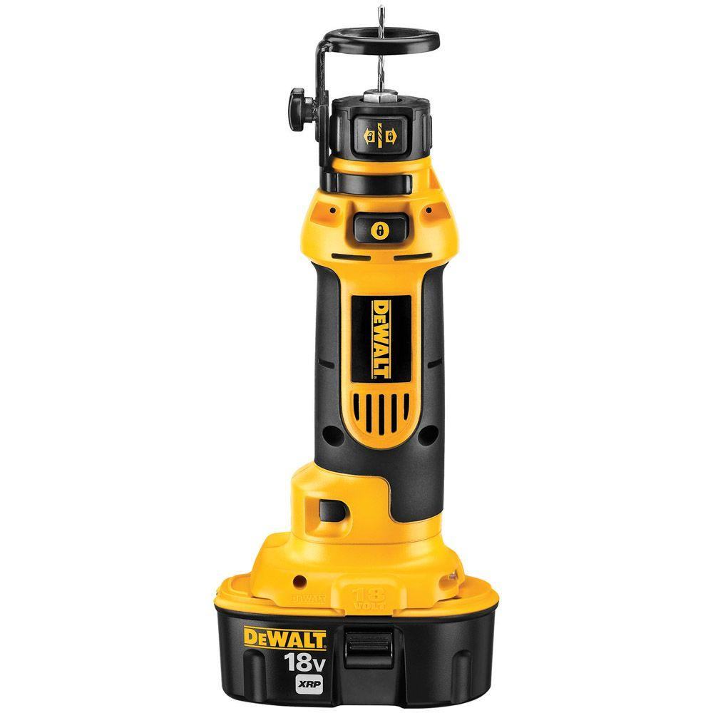 DEWALT 18-Volt NiCd Cordless Cut-Out Tool Kit with (2) Batteries 2.4Ah, 1-Hour Charger and Case