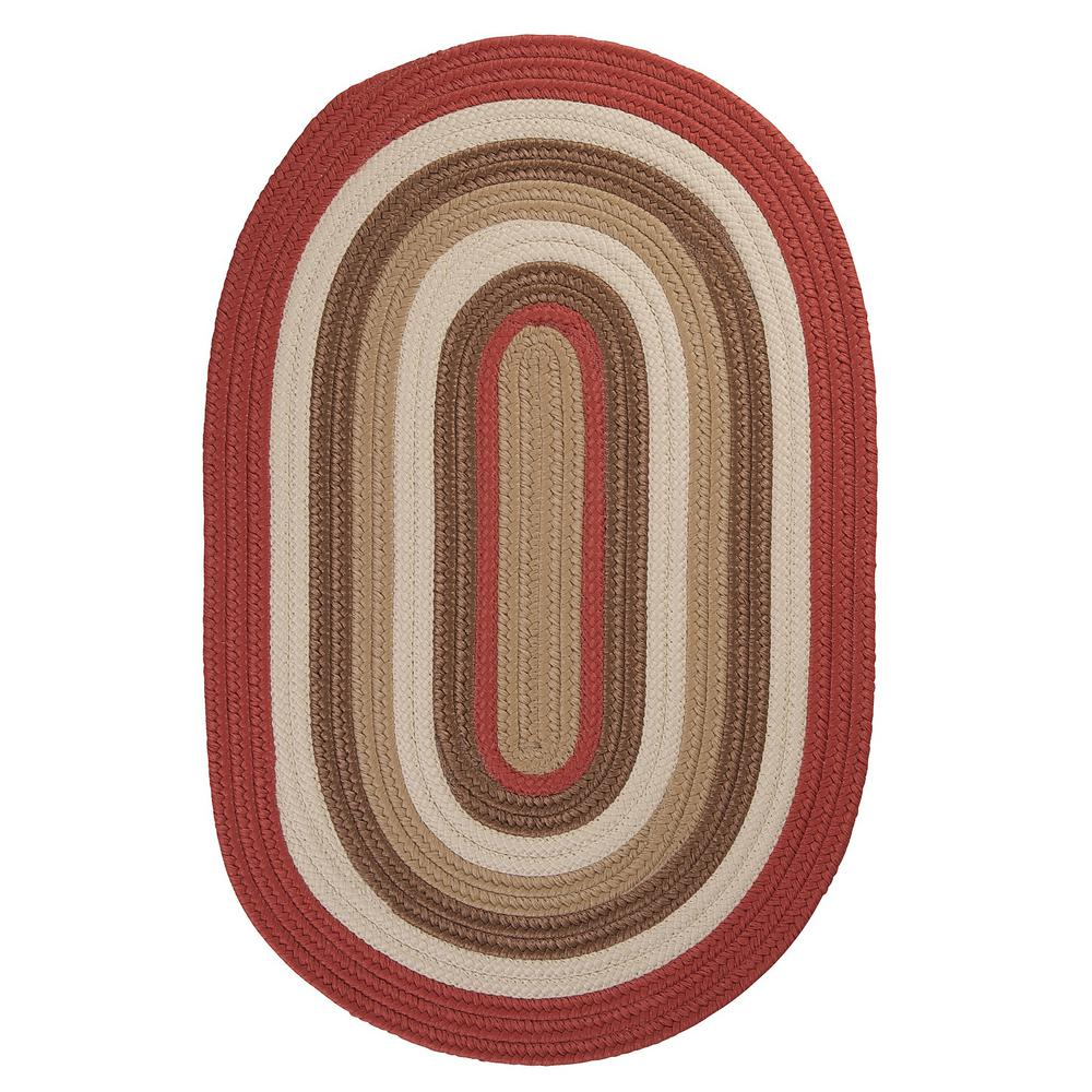 Frontier 2 ft. x 3 ft. Red Braided Area Rug