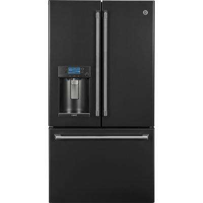 22.2 cu. ft. Smart French-Door Refrigerator with Keurig in Black Slate, Counter Depth and Fingerprint Resistant