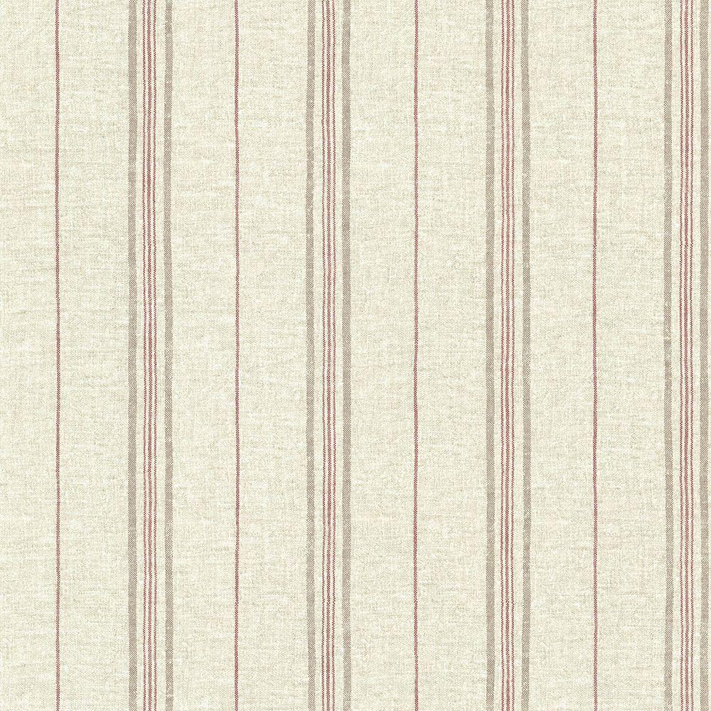 Calais Red Grain Stripe Wallpaper Sample