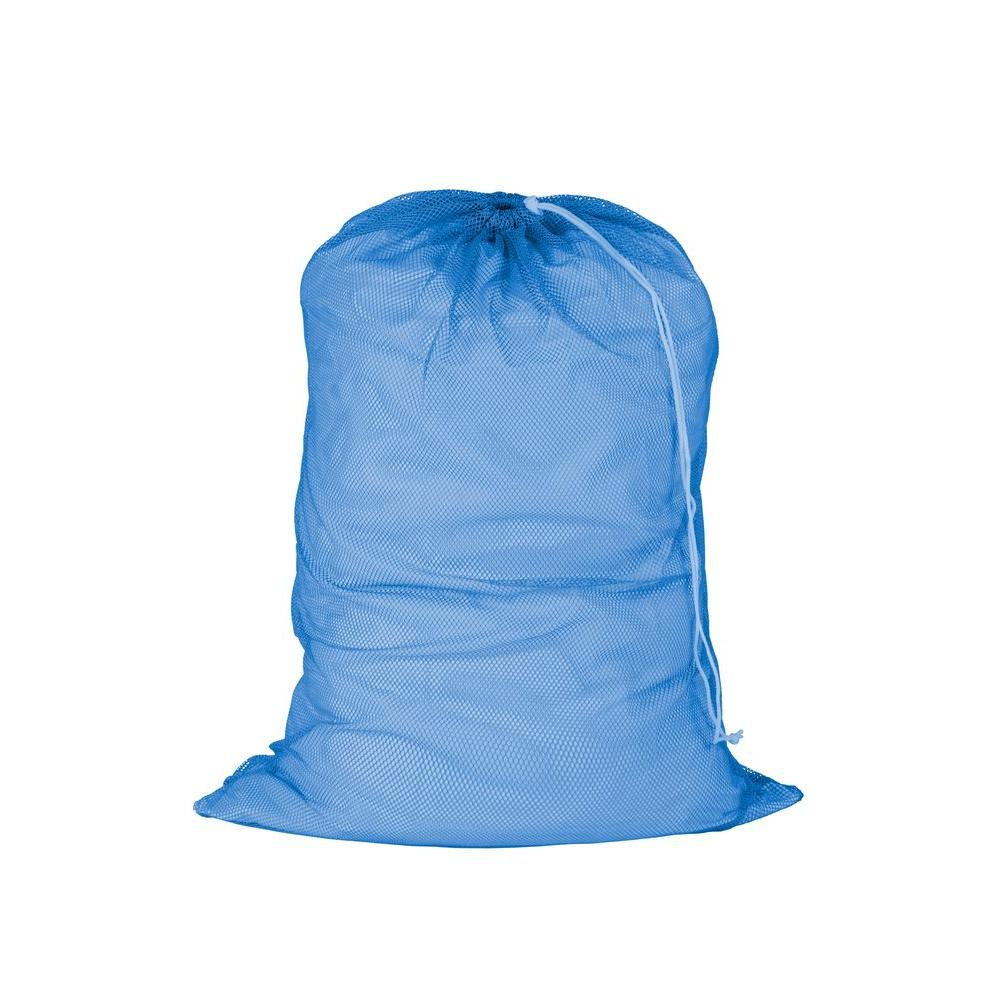 Blue Mesh Laundry Bag