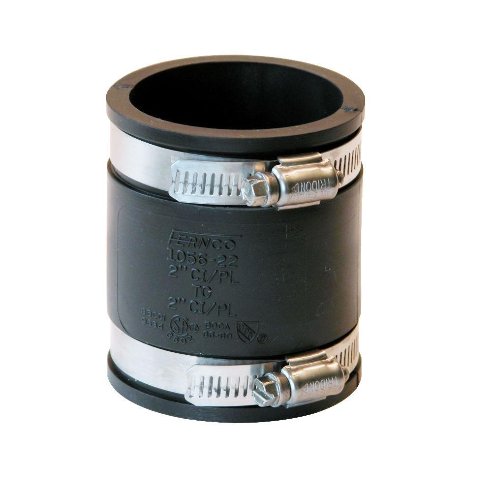 Fernco 2 in. x 2 in. DWV Flexible PVC Coupling