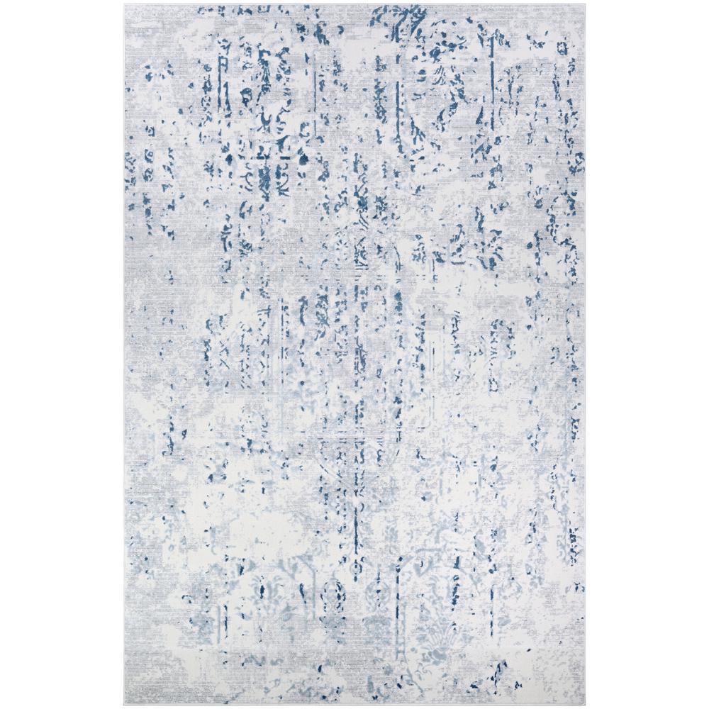 Calinda Kingsbury Steel Blue-Ivory 9 ft. x 12 ft. Area Rug