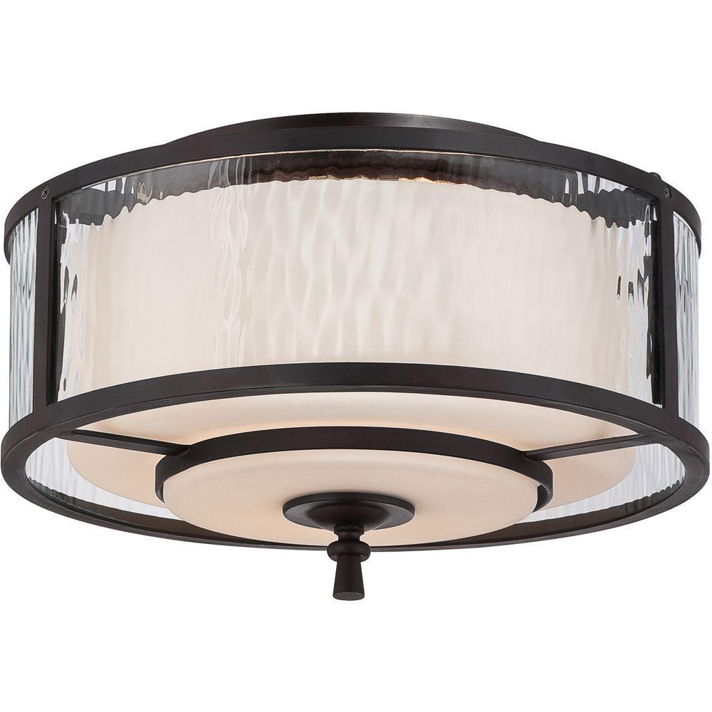 Filament Design Monroe 2-Light Dark Cherry Flushmount