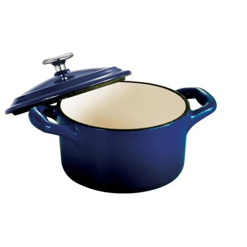 Gourmet 10.5 oz. Enamel Cast Iron Mini Cocotte