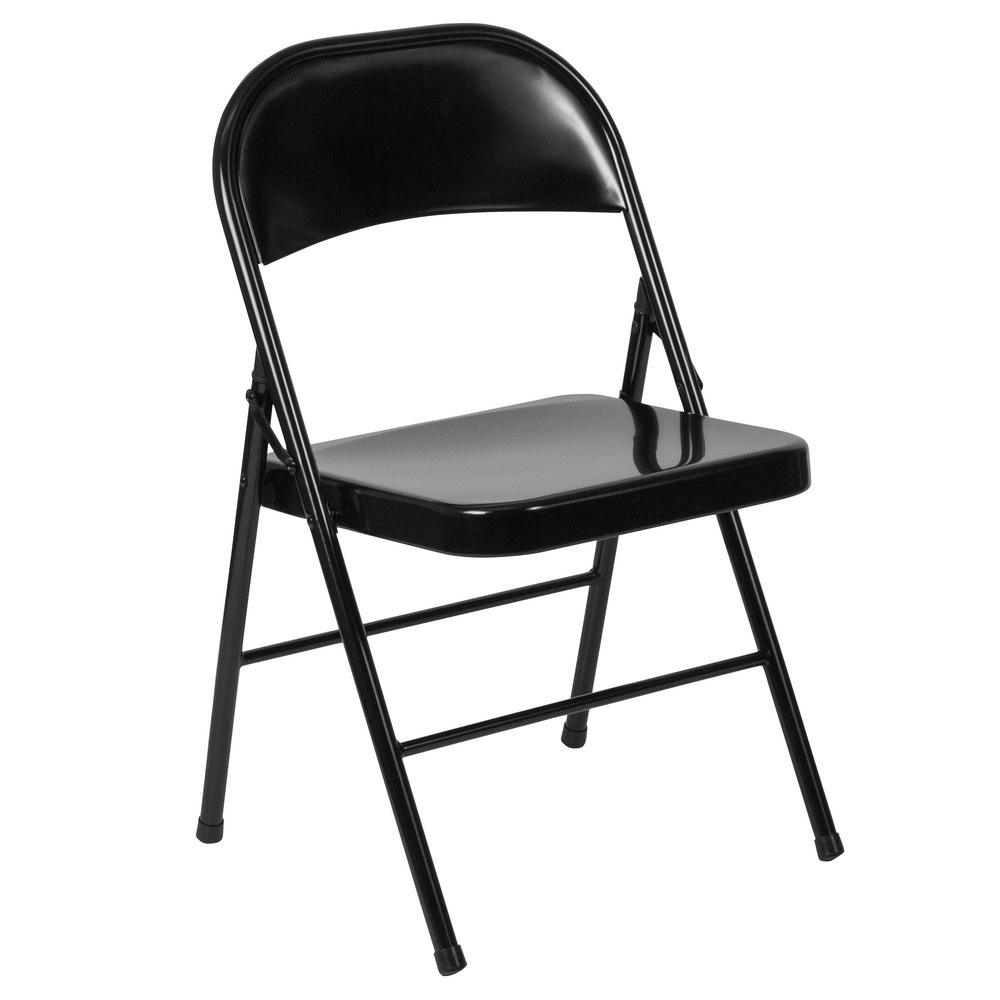 Carnegy Avenue Black Metal Outdoor Safe Folding Chair