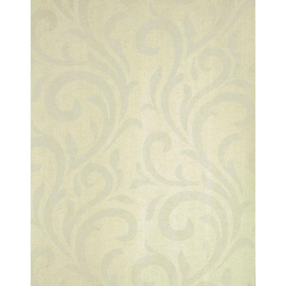 Muriel Green Scroll Wallpaper Sample