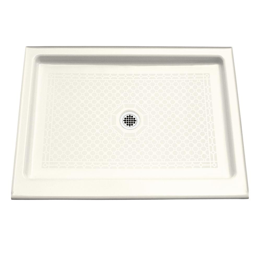 Kohler Kathryn 48 In X 36 Single Threshold Shower Base White K 9025 0 The Home Depot