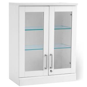 NewAge Products Home Bar White Short Wall Display Cabinet by NewAge Products