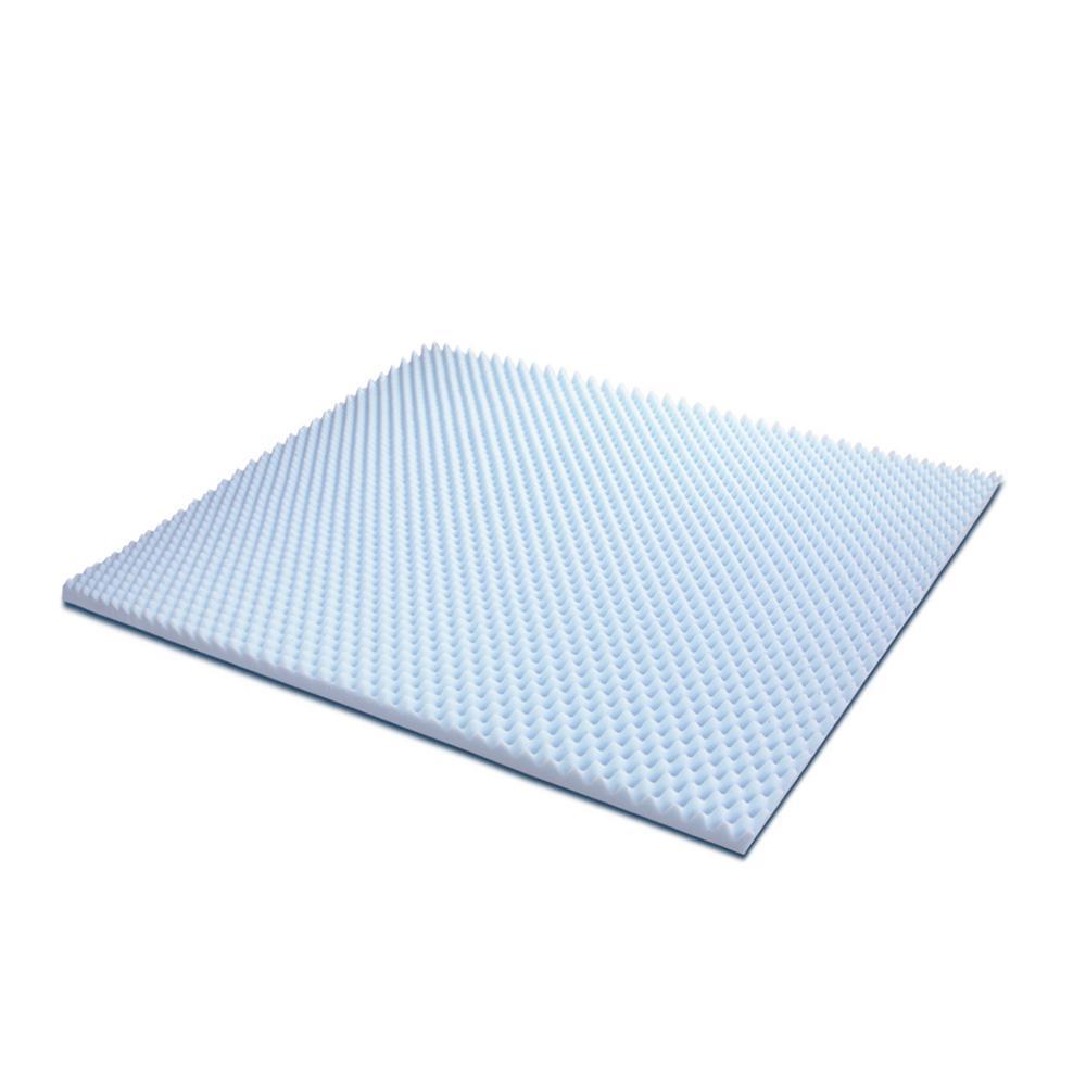 furinno angeland 2 in king size egg crate gel hd foam mattress topper fe26222k the home depot. Black Bedroom Furniture Sets. Home Design Ideas