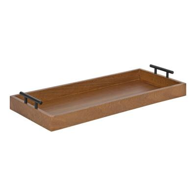 Lipton 24 in. x 10 in. Natural Rectangle Decorative Tray