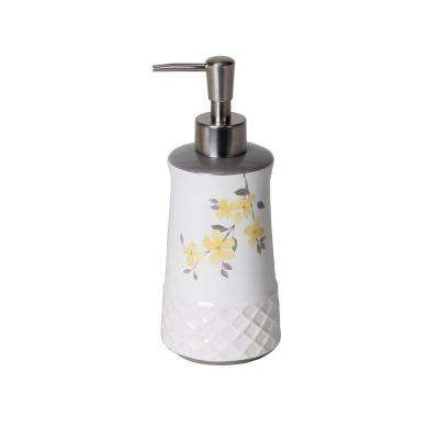 Spring Garden Ceramic Lotion Dispenser