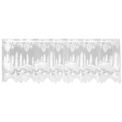 Pinecone 16 in. L Polyester Valance in White