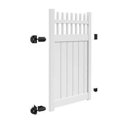 Tennessee 4 ft. W x 6 ft. H White Vinyl Un-Assembled Fence Gate