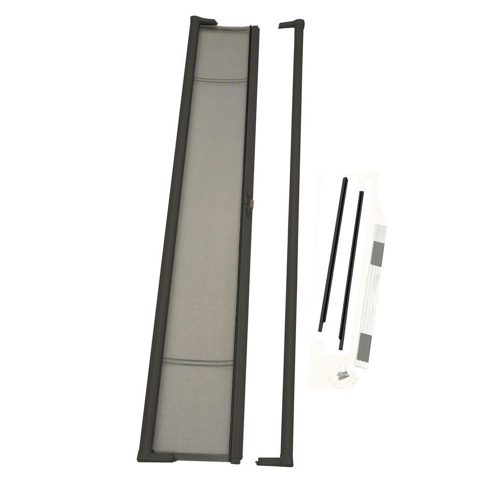 36 in. x 96 in. Brisa Brown Tall Retractable Screen Door