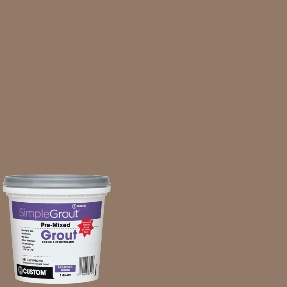 Custom Building Products SimpleGrout #105 Earth 1 Qt. Pre-Mixed Grout