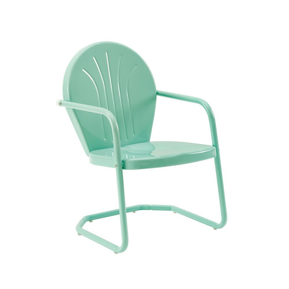CROSLEY Griffith Aqua Metal Outdoor Lounge Chair