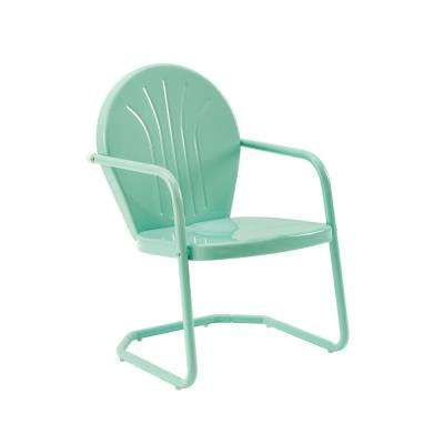 Griffith Aqua Metal Outdoor Lounge Chair