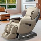 Titan Pro Series Tan Faux Leather Reclining Massage Chair (Cream)