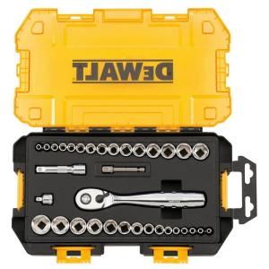 DEWALT 1/4 in. and 3/8 in. Drive Socket Set (34-Piece)-DWMT73804 - The Home Depot