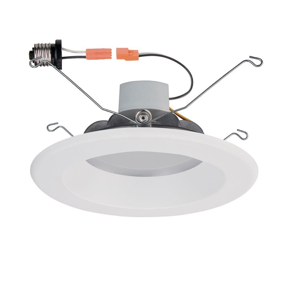 Commercial Electric 5 in. White LED Recessed Trim