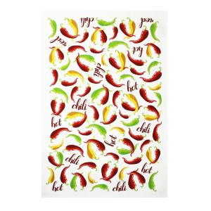 Designer Print Multi Towels Chili Peppers Cotton Kitchen Towels (Set of 2) by