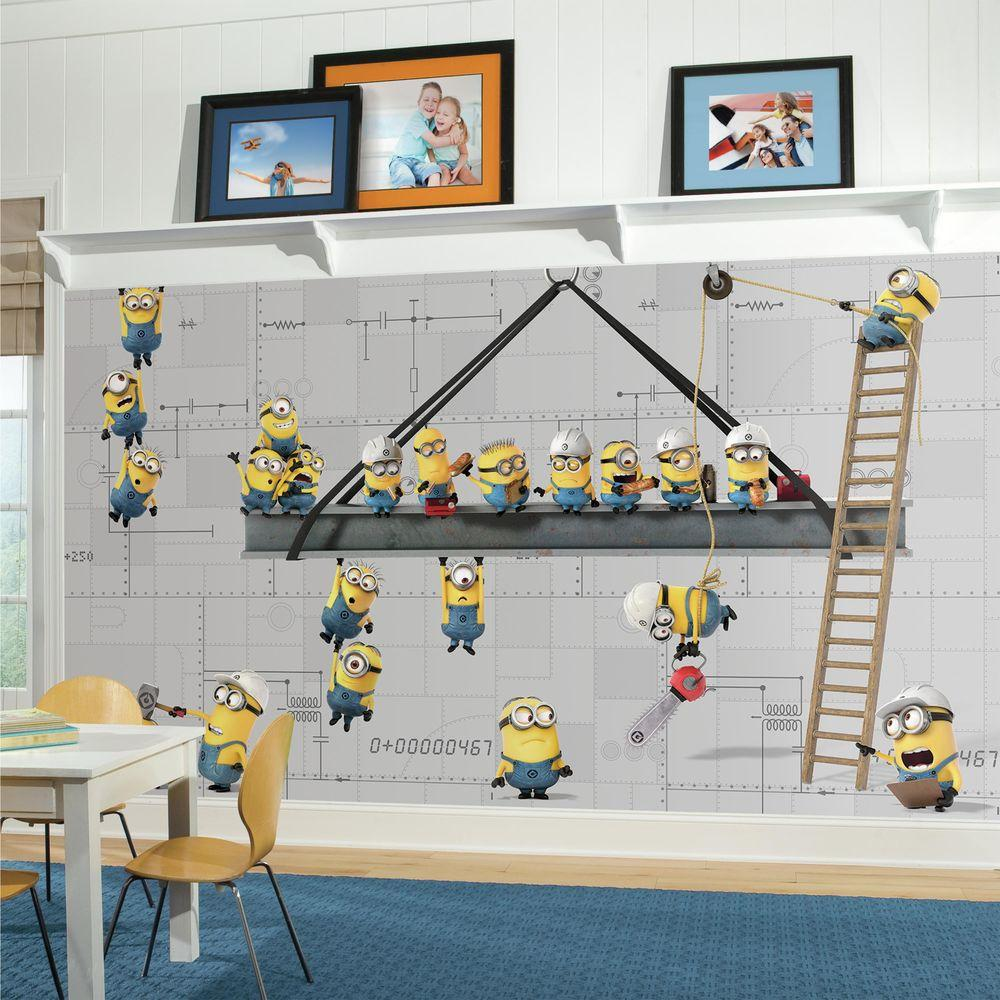 Roommates 72 In X 126 In Minions At Work Xl Chair Rail 7