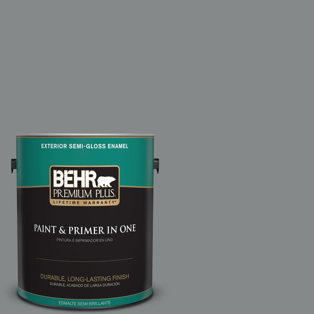 1-gal. #N460-5 Slate Rock Semi-Gloss Enamel Exterior Paint