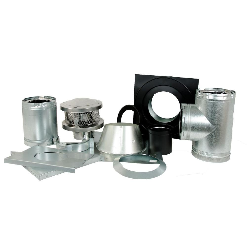 American Metal Products Through the Wall Wood Stove Kit-6HS-TWK ...