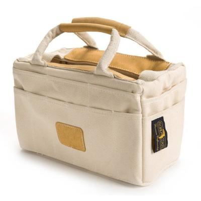 14 in. Leather Trim Canvas Tool Bag