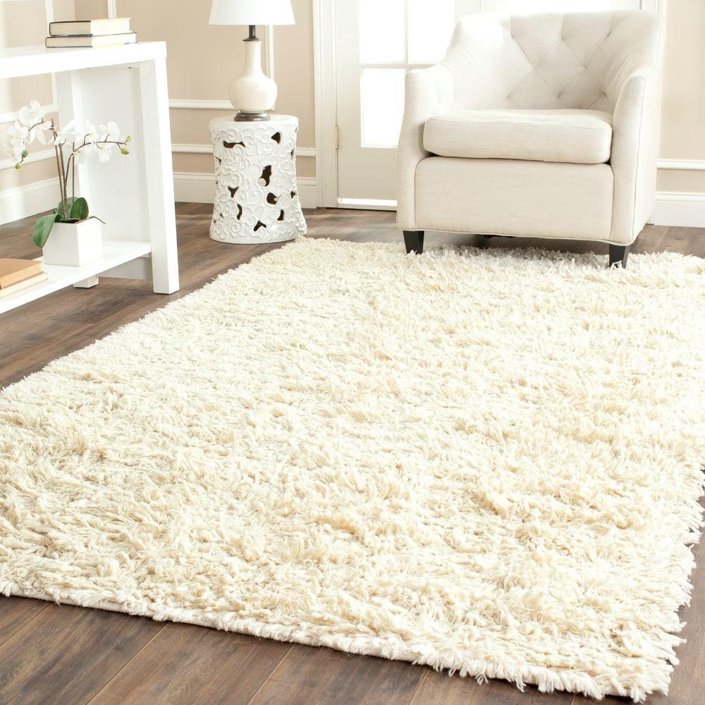 Safavieh Carmel Shag Ivory 8 ft. 6 in. x 11 ft. 6 in. Area Rug