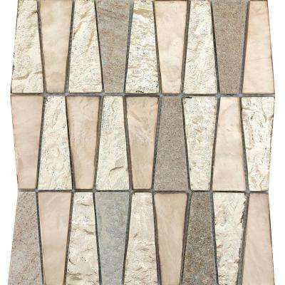 Imagine Prospect Gloss/Matte Mix 10.83 in. x 11.81 in. x 8mm Glass Mesh-Mounted Mosaic Tile