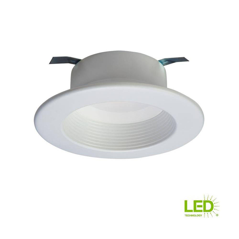 Led Light Fixtures Retrofit: Halo RL 4 In. White Integrated LED Recessed Ceiling Light