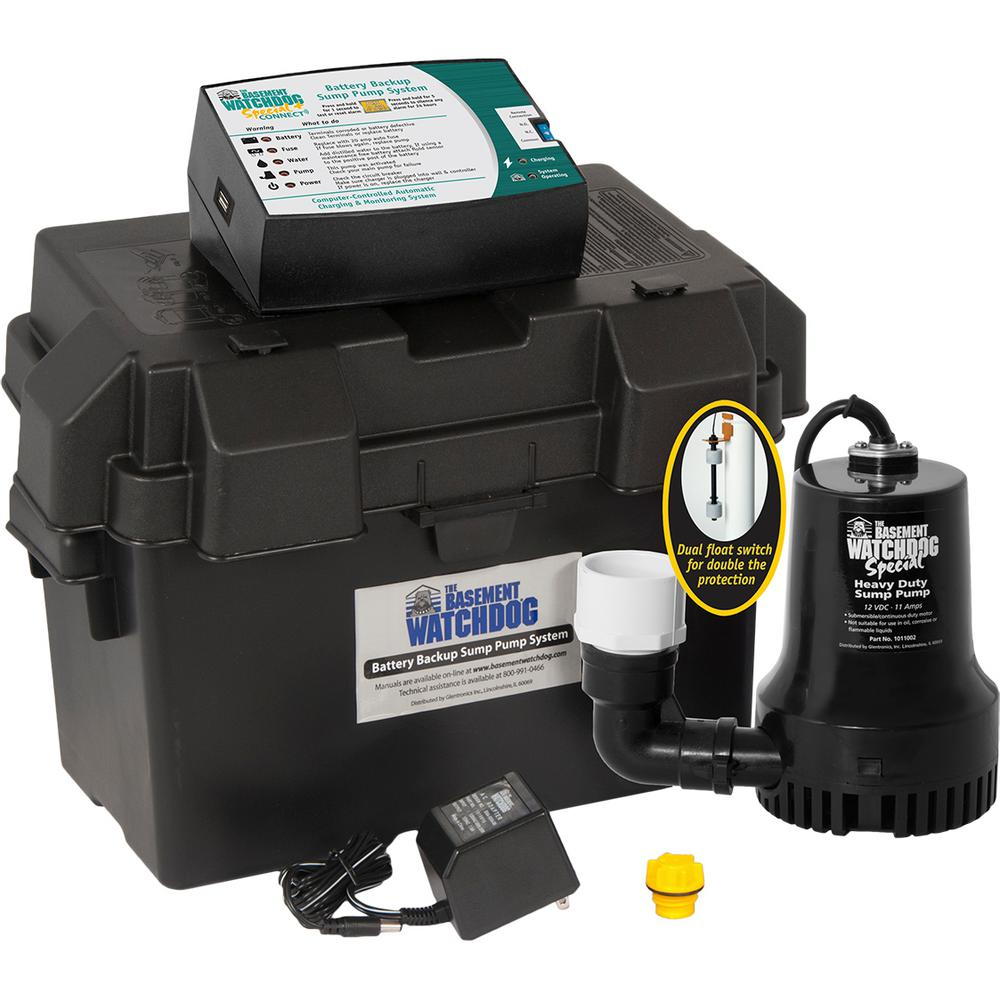 basement watchdog 0 33 hp special battery backup sump pump system rh homedepot com basement watchdog special parts glentronics basement watchdog parts