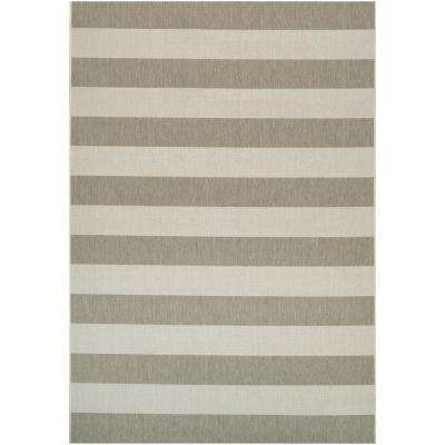 Afuera Yacht Club Tan-Ivory 4 ft. x 6 ft. Indoor/Outdoor Area Rug