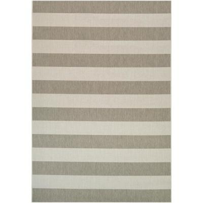 Afuera Yacht Club Tan-Ivory 8 ft. x 11 ft. Indoor/Outdoor Area Rug