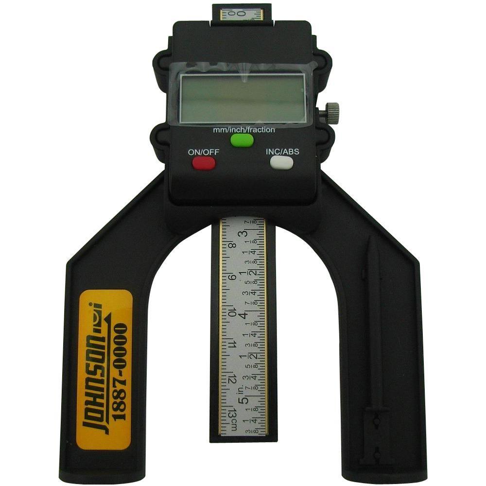 Digital Deflection Meter : Johnson digital depth gauge the home depot