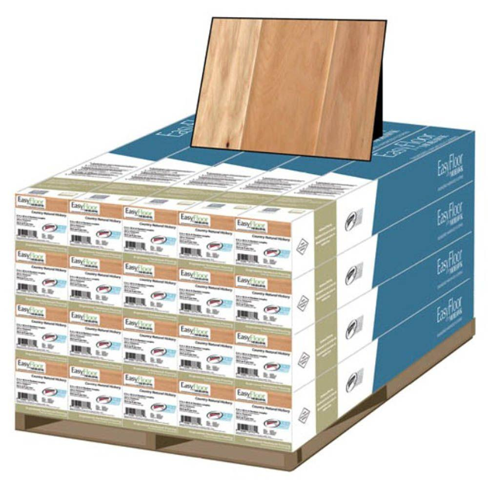 Mohawk Country Natural Hickory 3/8 in.T x 5 in. Wx Random Length Soft Scraped Engineered Hardwood Flooring (470 sq. ft./pallet)