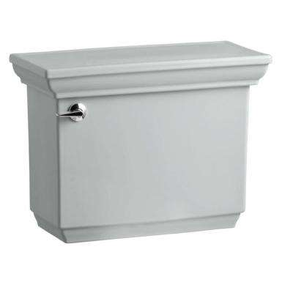 Memoirs 1.28 GPF Single Flush Toilet Tank Only with AquaPiston Flush Technology in Ice Grey
