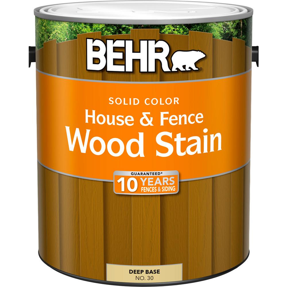 BEHR 1 gal. Deep Base Solid Color House and Fence Wood Stain