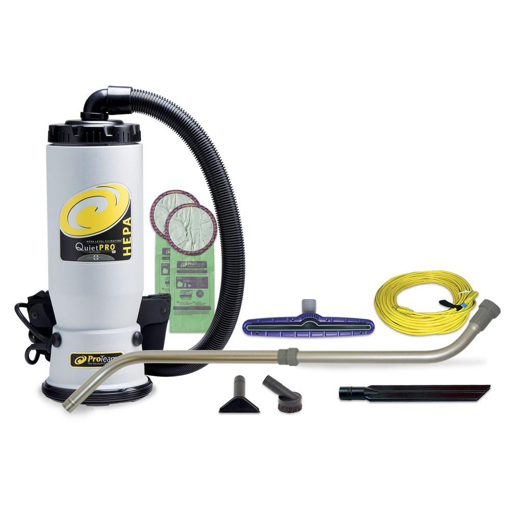 QuietPro BP HEPA 6 Qt. Backpack Vac with Xover Multi-Surface Telescoping