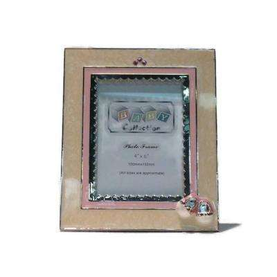 Booties Baby picture frame and album: Girl for 4 x 6 in. Picture