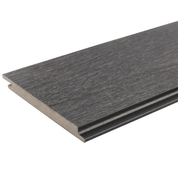 All Weather System 5.5 in. x 192 in. Composite Siding in Hawaiian Charcoal (14-Piece)